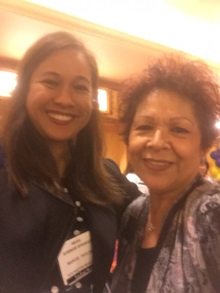 But first let me take a selfie. With Toyfest West Show Coordinator Frances Mendez.