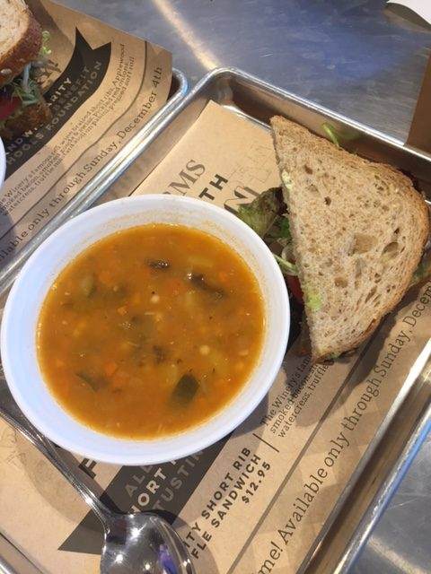 Soup and sandwich - always a good combo at Mendocino Farms.