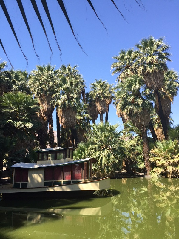 This boathouse is part of 29 Palms history. Jane's family actually lived in it for a time.