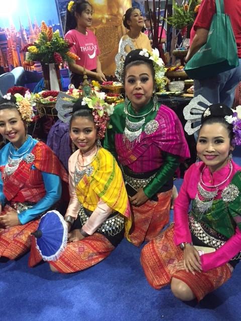 Sawasdee Ka from the colorful Thailand booth
