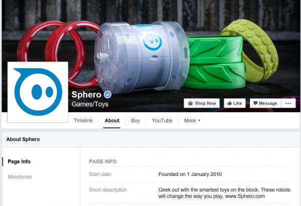 Sphero on Facebook