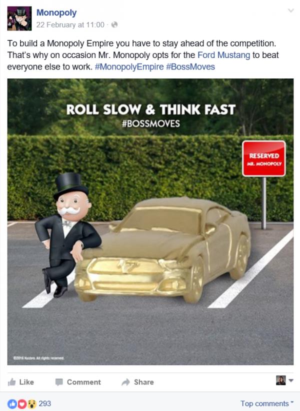 Monopoly Branding on Social