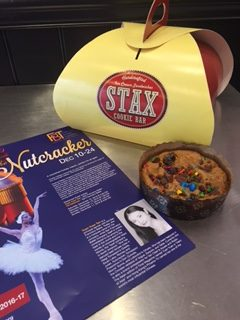 I am grateful to Jane Gillespie PR for connecting me with Stax Cookie Bar. It was the perfect venue to sugar up some kids (and parents!) before meeting the Sugar Plum Fairy.