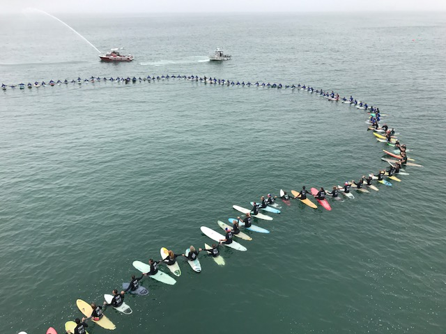 Huntington Beach Surfing Circle of Honor Paddleout World Record